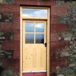 Double glazed and solid timber door